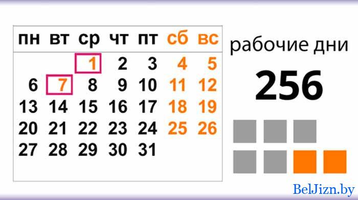 производственный календарь на 2020 год для Беларуси,